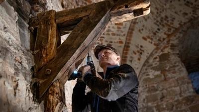 Undersökningar av trapprest av trä i Kärnan 2020